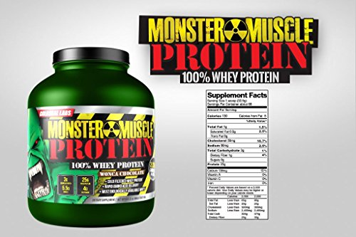 Colossal Labs Monster Muscle Protein - 100% Cold Filtered Whey Protein - Rapid Amino Acid Delivery - Natural Vanilla for a Rich Flavor - 5 Pound Tub