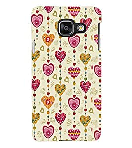 Printvisa Lite Love Chains Backcover For Samsung A3 2016 (Pink)