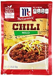McCormick Chili, Mild, 1.25-Ounce Units (Pack of 24)