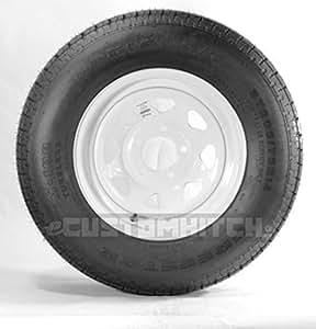 Goodyear Marathon Trailer Tire + Rim ST205/75R14 205/75-14 14 Wheel White Spoke