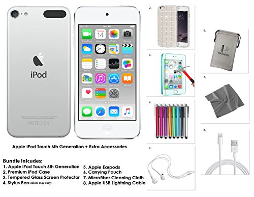 apple-ipod-touch-6g-64gb-silber-extra-zubehor-neues-modell-juli-2015