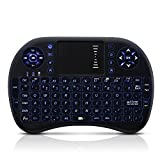 Seneo 2.4Ghz Mini Touchpad Keyboard with USB Interface Adapter, Backlit LED for Windows, Linux, Android, Xbox360/ps3, Mac OS.