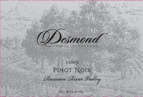 2009 Desmond Wines Russian River Valley Estate Pinot Noir 750 Ml