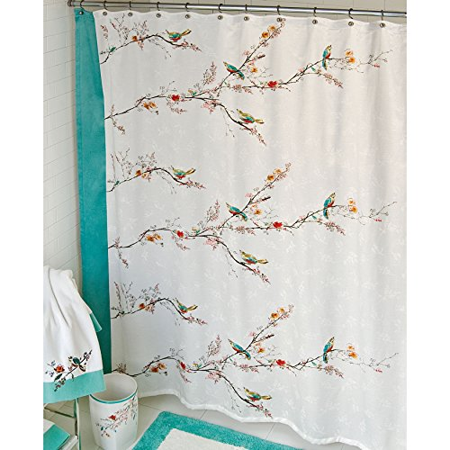 Lenox Simply Fine Chirp Shower Curtain Multi Color Home Garden Bathroom Accessories Curtains