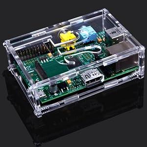 Trixes Raspberry Pi Rpi Clear Case Enclosure Protector And