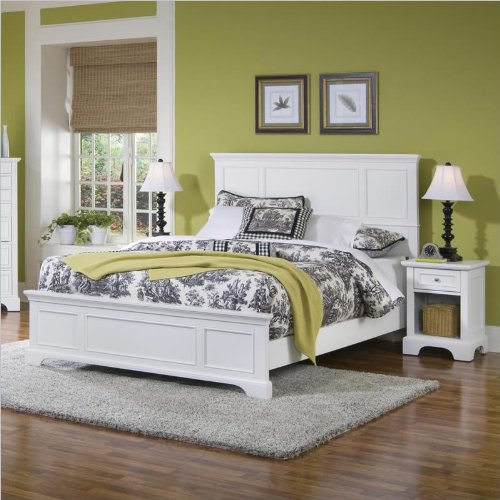 White Bedroom Furniture Set 7571 front
