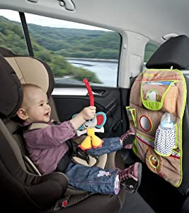 Babymoov - Organizador con bolsillo para coche con león y elefante (0-24 meses), color marrón de Babymoov - BebeHogar.com