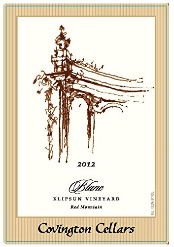 "2012 Covington Cellars ""Blanc"" Klipsun Vineyard Bordeaux Style White Blend 750 Ml"