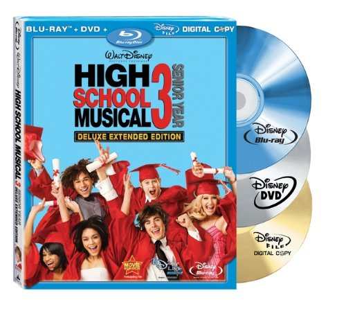Cover art for  High School Musical 3: Senior Year (Deluxe Extended Edition + Digital Copy + DVD and BD Live) [Blu-ray]
