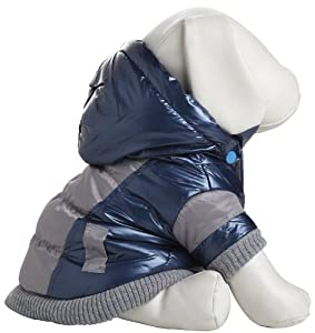 Pet Life Aspen Vintage Dog Ski Coat in Blue - Medium