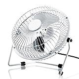 CSL - desk-fan / Fan | metal frame / fanblades | for PC / Notebook | compatible Windows / Apple | colour: white