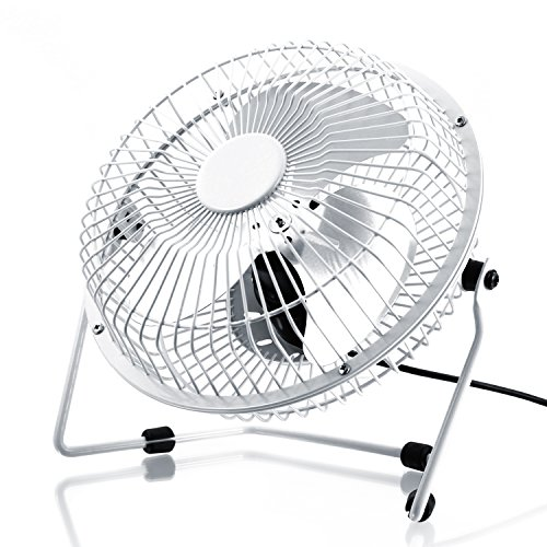 CSL-USB-Ventilator-17cm-Tischventilator-Fan-Gehuse-Rotorbltter-aus-Metall-PC-Notebook-in-wei