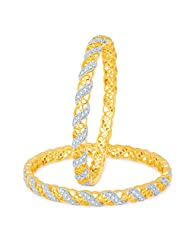 Sukkhi Divine Gold And Rhodium Plated CZ Bangles For Women
