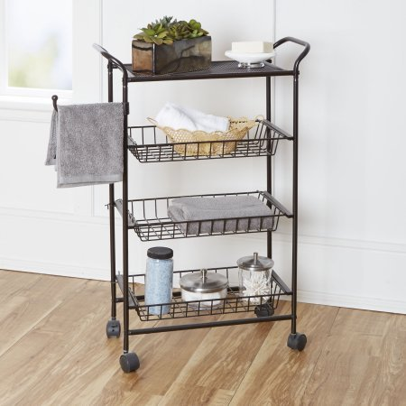 Chapter Bathroom Storage Cart, Oil-Rubbed Bronze (Bronze Bathroom Storage compare prices)