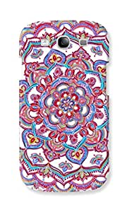 EYP Flower Circles Pattern Back Cover Case for Samsung Galaxy S3 Neo GT-I9300