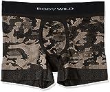(ボディーワイルド)BODY WILD 立体成型ボクサーブリーフ(前とじ) BWS751G 97 ブラック L