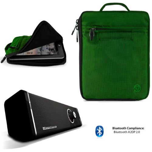 Soft Nylon Carrying Case For Hp Slate 7 Extreem, Slate 7 Plus Hd, Slate 7 Hd, Slate 7 Tablet + Bluetooth Speaker