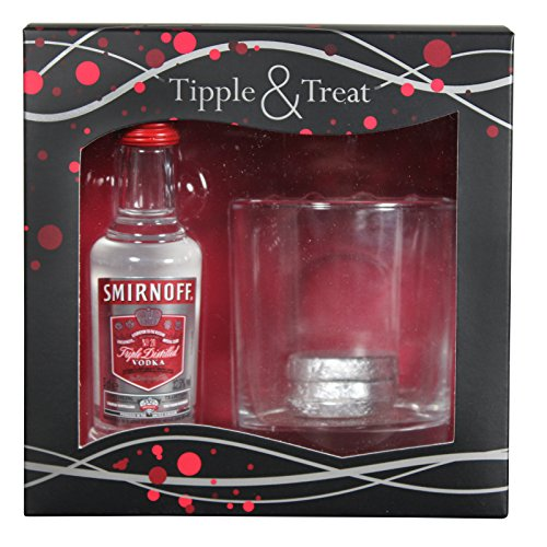 Smirnoff discount duty free Smirnoff Vodka Tipple & Treat Glass & Chocolate Gift Pack