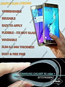 0.2mm UNBREAKABLE REUSABLE TEMPERED GLASS SCREEN PROTECTOR Film Guard FOR SamsungTM Galaxy S6 edge+ Plus - PS FORTUNET