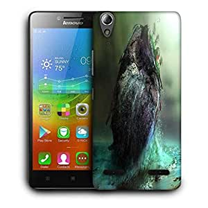 Snoogg House In Sea Printed Protective Phone Back Case Cover For Lenovo A6000