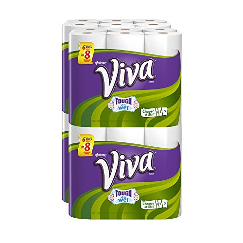 Viva Paper Towels, Choose-a-Size, Big Roll, 6 Count (Pack of 4)