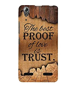 Proof Of Love Is Love Cute Fashion 3D Hard Polycarbonate Designer Back Case Cover for Lenovo A6000 Plus :: Lenovo A6000+ :: Lenovo A6000