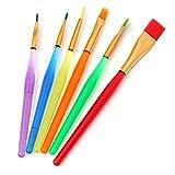 KINGSO reg; Lot de 6 Brosses pour Peinture à gâteau décoration glaçage Fondant SugarCraft DIY Tool Craft Clay...