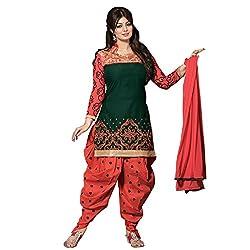 Jini Fashion Latest Green Embroidered Anarkali Salwar Suit