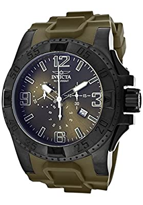 Invicta Men's 11919 Excursion Analog Display Swiss Quartz Green Watch