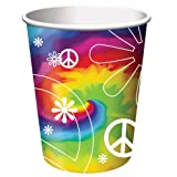 Creative Converting Tie Dye Fun 8 Count Paper Cups, 9-Ounce