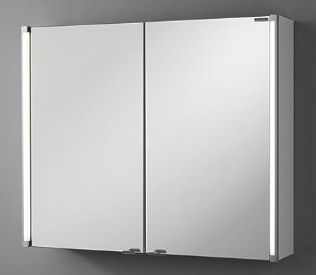 FACKELMANN LED Bathroom Mirror Cabinet with 2 Doors 80 CM Wide
