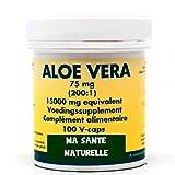 ALOE VERA - capsule 15000 mg (75 mg - 200:1 extrait, 1 capsule correspond à 15g de jus pure d'aloe vera)(= 1 cuillère à soupe) - 100 capsules - Best Reviews Guide
