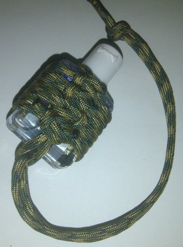 Braided Forest Camo Paracord Hand Sanitizer: