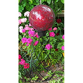 Echo Valley 8197 10-Inch Mosaic Glass Gazing Globe, Red