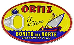 Ortiz Bonito Del Norte Tuna In Olive OIl 3.95 oz Oval Tin (Spain) 12 pack