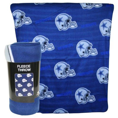 """Dallas Cowboys Nfl Helmet Repeat Lightweight Fleece Throw Blanket 50""""X60"""" front-951798"""