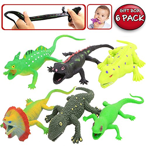 Toys And Co : Lizards toys inch rubber lizard figure realistic replica