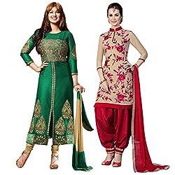Ruaab Fashion Women Designer Dress Materials Combo(RF_AD_496)