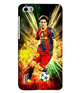 EU4IA Messi Football Player Pattern MATTE FINISH 3D Back Cover Case For Huawe...