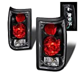 SPPC Black Euro Tail Lights For Mazda B2000 - Passenger and Driver Side