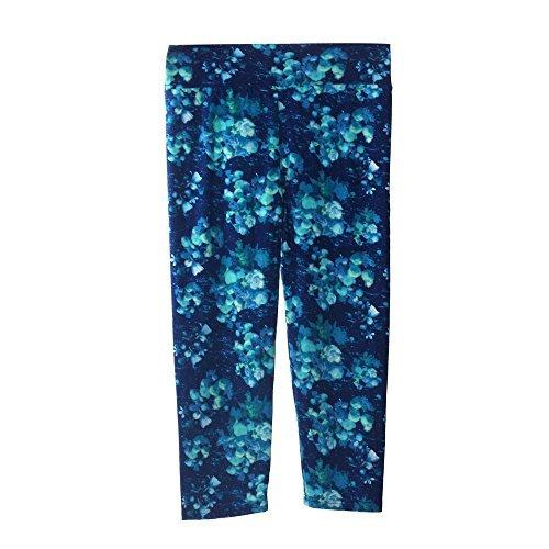 CreazyDog® High Waist Fitness Yoga Sport Pants Stretch Cropped Leggings (Blue, M)