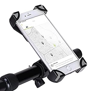 GHB Support Vélo du Guidon Support Smartphone Vélo Support Télephone pour VTT Rotatif à 360 Universelet Réglable pour Téléphone Portable de 4-6,5 pouces Comme iPhone/Samsung/Huawei etc