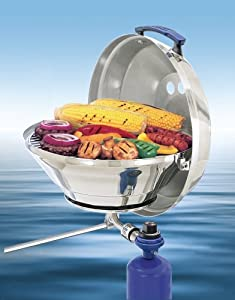 Magma Marine Kettle Gas Grill w  Hinged Lid, Original Size by Magma Products