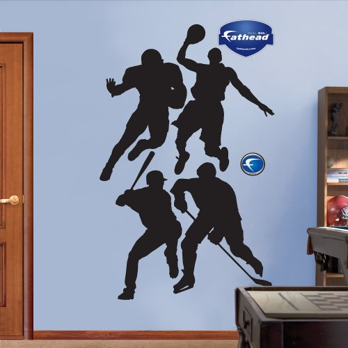 Fathead Assorted Sports Athletes Silhouettes Graphic Wall Décor