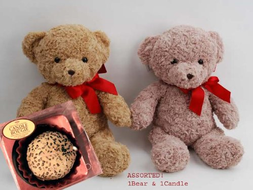 Holiday Gift for Her - Perfect Gift Under $25 - Christmas Bear with Scented Candle