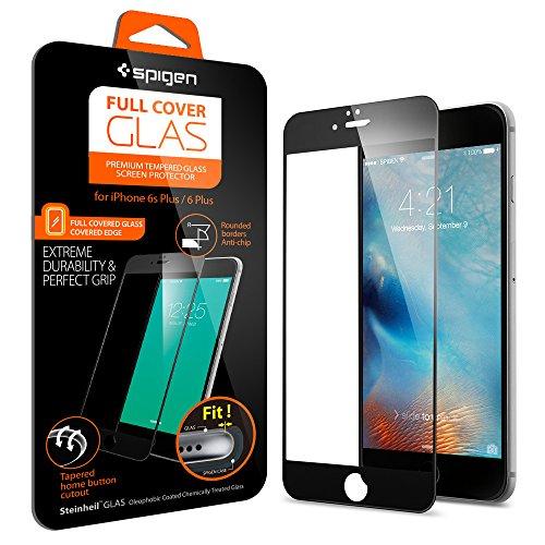 Spigen iPhone6s Plus ガラス フィルム, フルカバー グラス [ 3D Touch 全面液晶保護 9H硬度 發油加工 ] アイフォン6s プラス /  6 プラス 用 (ブラック SGP11636)