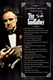 Godfather Everything I Know In Life 24x36 POSTER Poster Print, 24x36