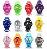 Kinder Silikon Uhr Uhren S (klein) 3,2 cm Trend Watch Style Sport Herrenuhr Damenuhr HOT - Verfügt über Luxuriöse Geschenktüte von AccessoriesBySej - Von AccessoriesBySej TM