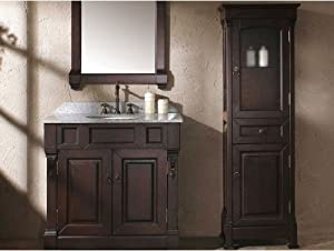 Countertop Linen Cabinet : ... .com - Mahogany Bathroom Linen Cabinet - Countertop Bathroom Mirrors