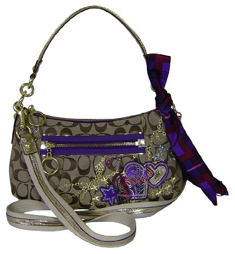 COach LImited Edition Applique Groovy Convertible Shoulder Hobo Bag Purse 15880 Khaki